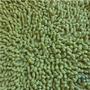 Alfombra De Baño Verde Flecos Morph