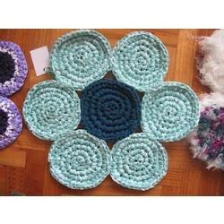 Alfombras artesanales de totora tejidas al crochet 270 for Alfombras artesanales tejidas a mano