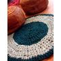 Alfombra Redonda Tejida Al Crochet - Artesanal
