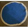 Alfombra Tejida Crochet Con Totora Artesanal