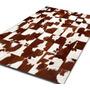 Alfombra Patchwork De Cuero De Vaca Con Pelo. 1,2m X 1,8m