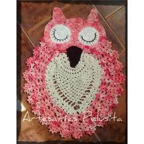 Alfombra Tejida Al Crochet Buho/lechuza