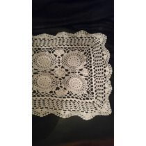 Camino Blanco Tejido Al Crochet 1mx35cm Envio Gratis