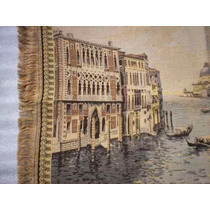 Tapíz Antiguo Bordado Gran Canal De Venezia *