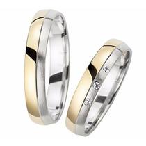 Alianzas- Bodas- Matrimonios- Acero-enchape Oro18 Kt-