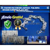 Swarovski Edicion Limitada Pulsera Dragon Europeo Plata 925