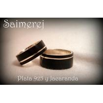 Alianzas Casamiento + Madera Y Plata 925 Unicas!!!!!!!!!!!!!