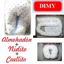 Almohadón P/amamantar+nido Contenedor+cuellito Cervical Dimy