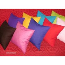 Almohadones Colores Lisos 40x40 Con Cierre - Súper Oferta !!