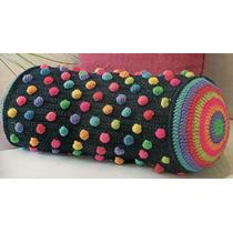 Almohadon Caramelo Fundas Tejidas Al Crochet