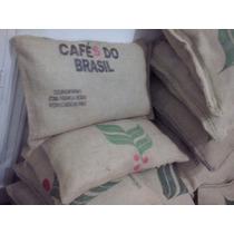 Almohadones Arpillera, Puff, Bolsa De Café, Vintage 45x70