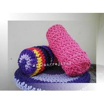 Almohadón Cilindrico/caramelo Crochet Totora