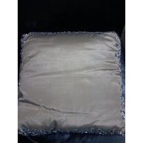 Almohadones Decorativos Cuadrados C/bordado Piedras Espejada