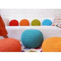 Almohadones Tejidos Crochet/totora