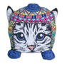 Almohadon Formas Oink Con Diseño Gato Coya / Cat / Kitty