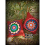 Almohadones Con Aplique Tejido En Crochet. Artesanal.