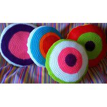 Almohadones Crochet De Hilo Multicolor