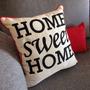 Almohadón 40x40 Frases Home Sweet Home Vivo Colores