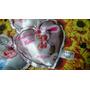 2 Almohadones De Corazón Personalizados Con Relleno 15 X 15