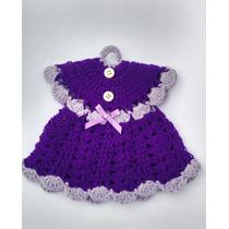 Agarradera Vestidito Tejida En Crochet