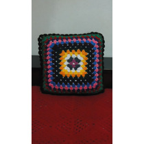 Almohadón Crochet Tejido En Ambas Caras Incluye Almohadón A6