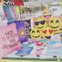 Almohadones, Emoticones Pintados A Mano.