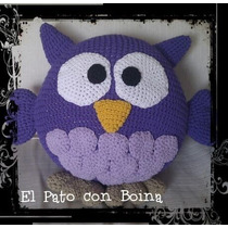 Almohadon Crochet Buho