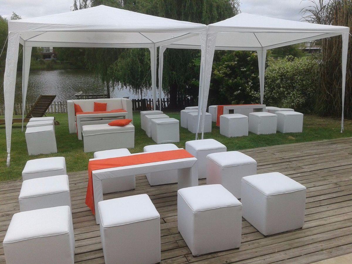 Alquiler de livings gazebos mesas sillas vajilla zona for Fabrica de sillones zona norte