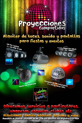 Alquiler De Proyector Pantalla Sonido Luces Karaoke Nieve