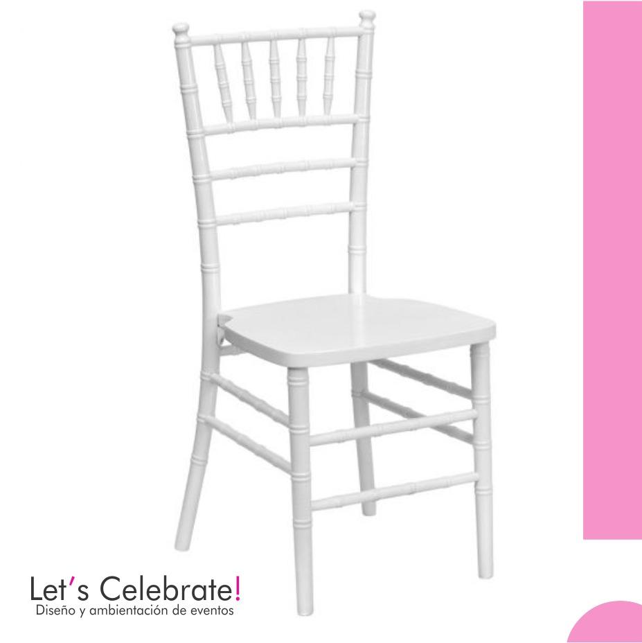 Alquiler de sillas tiffany ambientaci n de eventos for Sillas para rentar