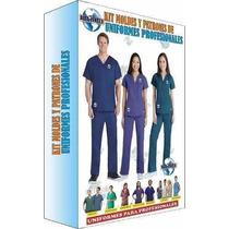 Kit De Moldes Imprimibles Uniformes Medicos Ambos Enfermeras