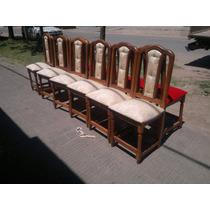 Sillas Tapizadas ..muebles De Algarrobo!!!!!!!