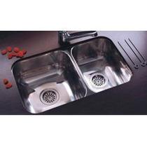 Pileta Johnson Acero Doble Modelo R63 Para Cocina