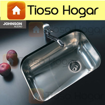 Pileta Bacha Acero Johnson Z52 52x32 Cocina Simple Cestillo