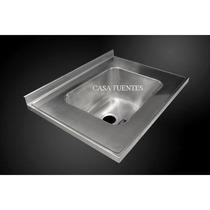Mesada de acero inoxidable para cocina o lavadero for Amoblamientos para lavaderos