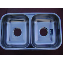 Bacha/pileta Cc28 De Acero Inoxidable Dobles De Johnson
