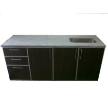 Muebles De Cocina C/cantos De Aluminio, Bajo Mesada 1.60 Mts