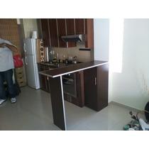 Barra, Desayunador, Cantos De Aluminio, Mueble Con Estantes
