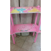 Muebles Niños Estantes Cajon Ruedas Princesas 9 Puntos