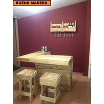Barra / Bar De Madera Estilo Rustico. // Buena Madera