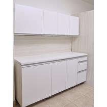 Mueble De Cocina 1,80 Mts Manijas J Aluminio Melamina
