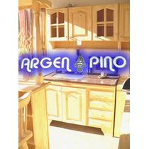 Argen-pino Combo 1,60 Alacena + Bajo Mesada C/cajon De Pino