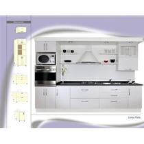 Mueble Cocina Modelo Paris Laqueado Blanco Amoblamientos Fl