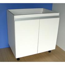 Mueble De Cocina 0.80 M. Melamina 18 Mm. Estante Regulable