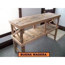 Isla De Cocina, Madera Desayunador, Rustica // Buena Madera