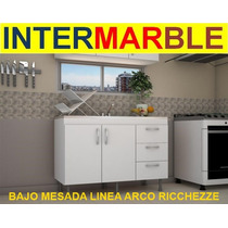 Bajo Mesada Cocina 120x83x50 Blanco Ricchezze Caja P/armar