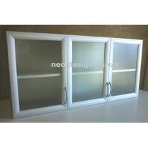 Alacena Puertas Verticales Marco Aluminio Y Vidrio