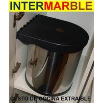 Tacho De Basura Bajo Mesada Mueble De Cocina Extraible Acero