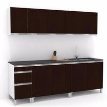 Mueble De Cocina 2.4 Mts Manijas J Aluminio Melamina