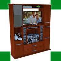 Modular Mueble Mesa Tv Con Cajonera Soporte Lcd Led Centro